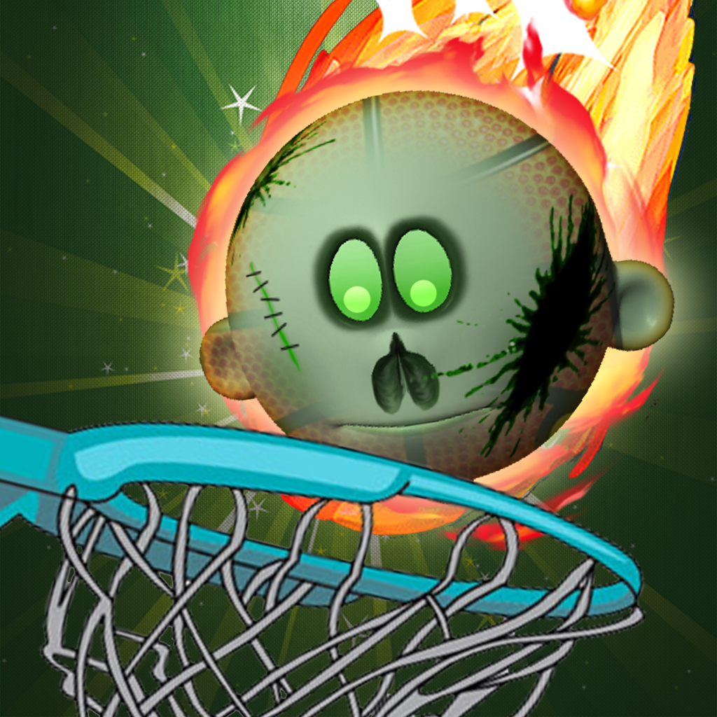 A Zombie Head Hoops Basketball